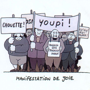 manifestation fausse joie